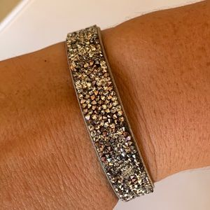 Swarovski Crystal Rock Grey Bracelet